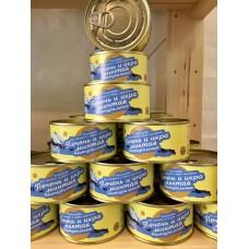 Печень и икра минтая натуральные, 185 гр