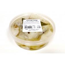 Треска филе слабой соли в масле, пресерва